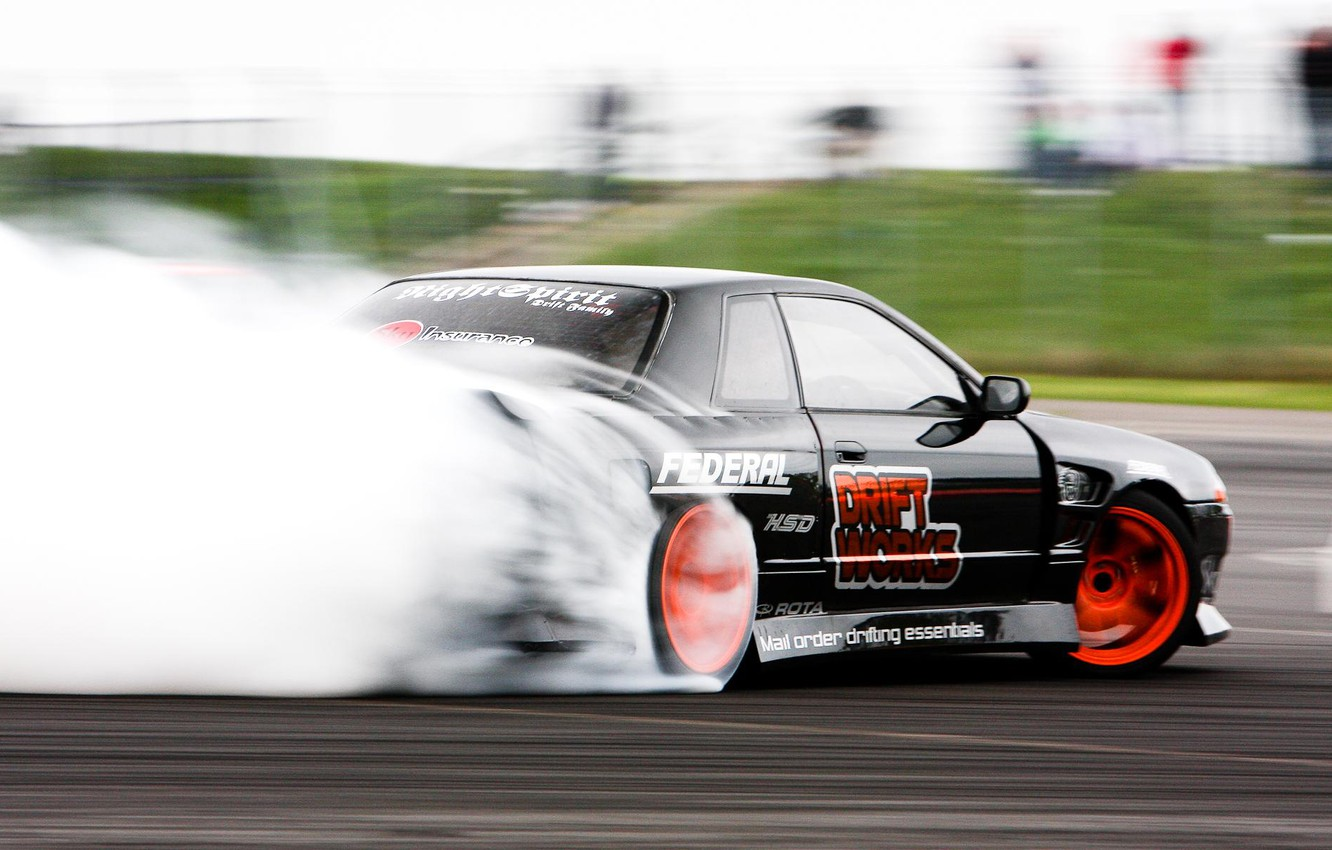 Photo wallpaper nissan, drift, R32, skyline