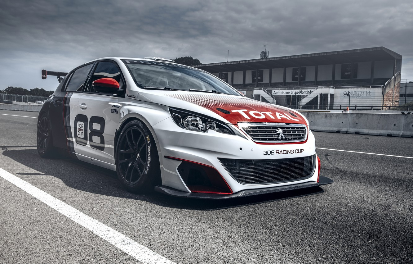 Photo wallpaper race, Peugeot, Peugeot, 308, 2016, Racing Cup