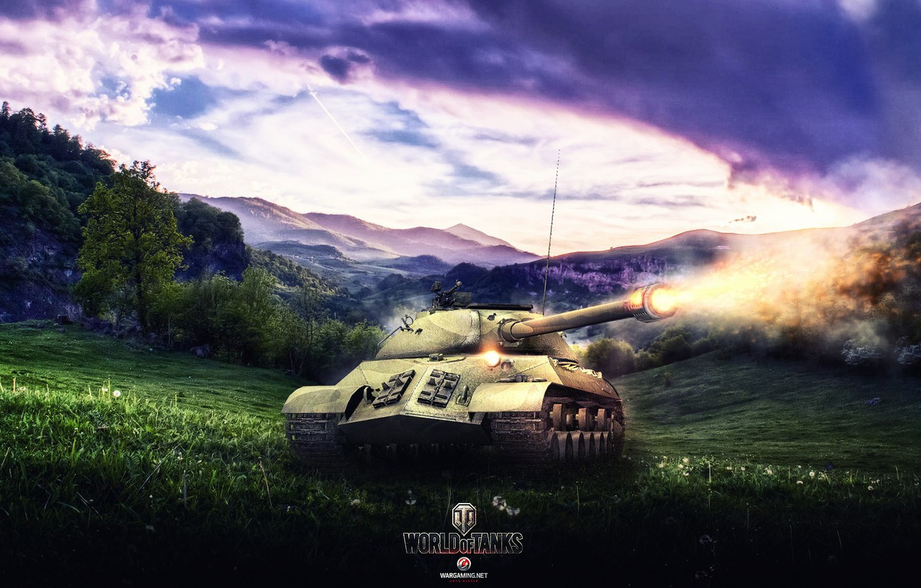 Photo wallpaper Game, World of Tanks, Is-3, FuriousGFX