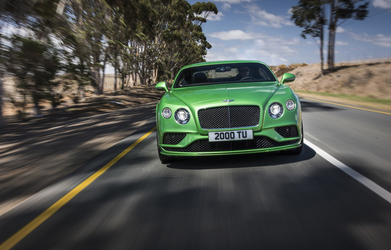 Photo wallpaper road, Bentley, Continental, Speed, Bentley, continental, 2015