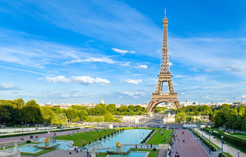 Photo wallpaper tower, Paris, area