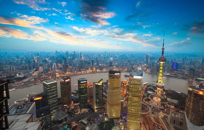 Photo wallpaper the city, tower, Shanghai, Shanghai, Tower, Jinmao
