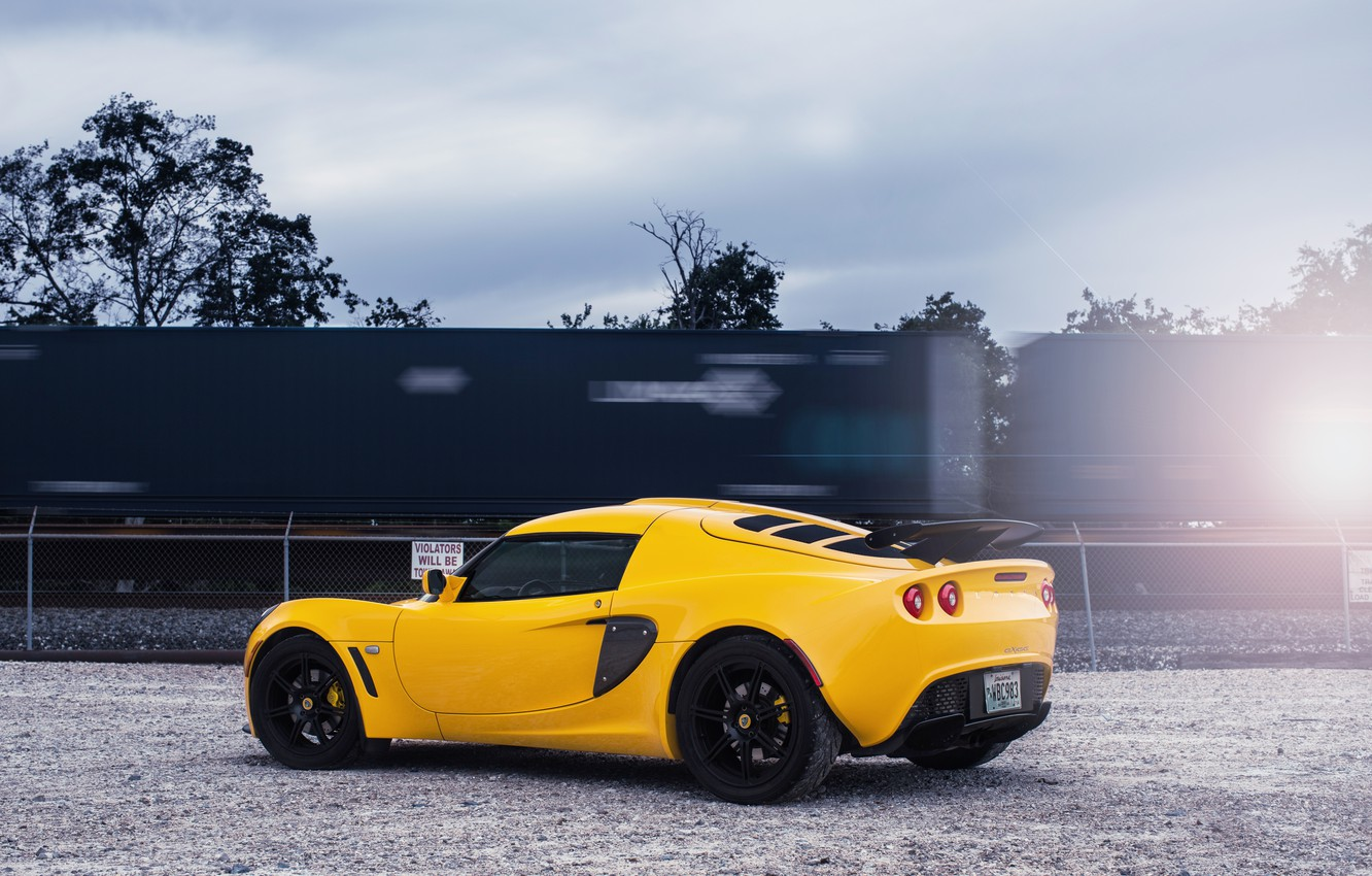 Photo wallpaper the sky, clouds, yellow, Lotus, railroad, Lotus, yellow, Requires, exig