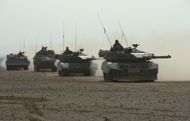 Photo wallpaper war, technique, Germany, tank, the convoy, leopard 1