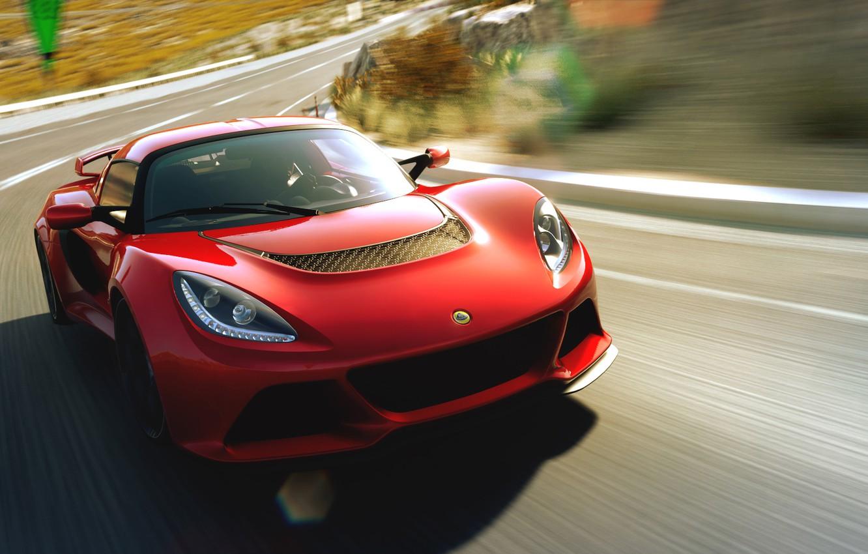 Photo wallpaper road, speed, sports car, Lotus Exige, Lotus Exige S V6