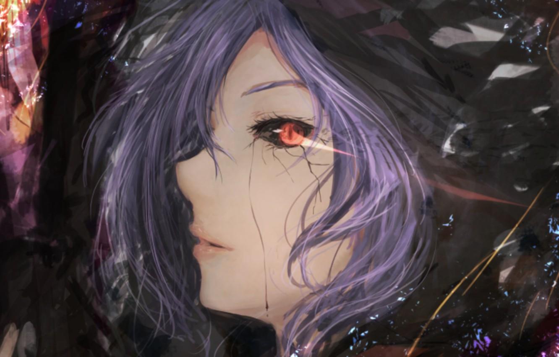 Photo wallpaper art, art, red eye, admin stupid hamster, Tokyo Ghoul, Tokyo Ghoul, Kirishima Bring