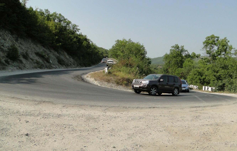 Photo wallpaper road, serpentine, cars, Kuban, Akela White, Krasnodar Krai, Abrau-Dyurso
