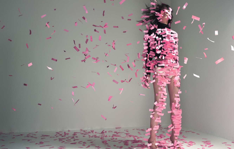 Photo wallpaper paper, pink