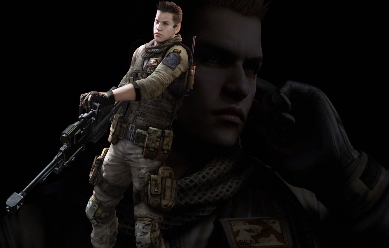 Wallpaper Gun Video Games Black Background Resident: Wallpaper Gun, Game, Resident Evil, Biohazard, Soldier