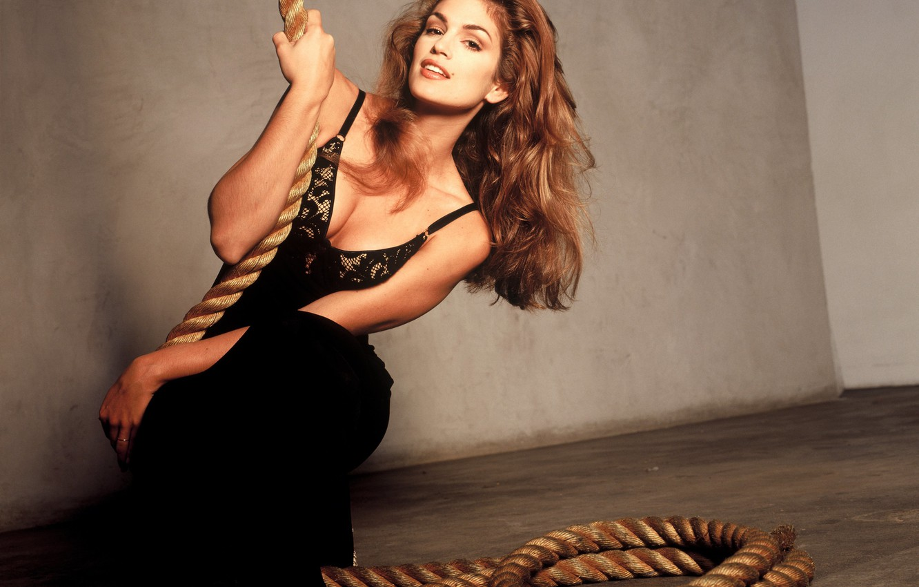 Photo wallpaper girl, model, girl, sexy, model, face, Cindy Crawford, Crawford, Cindy