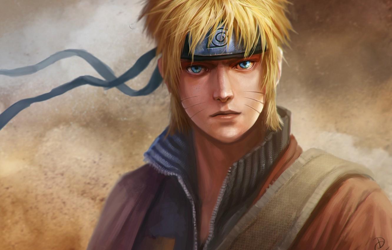Photo wallpaper look, the wind, headband, emblem, guy, Naruto, Naruto, art, naruto Uzumaki, dantecyberman