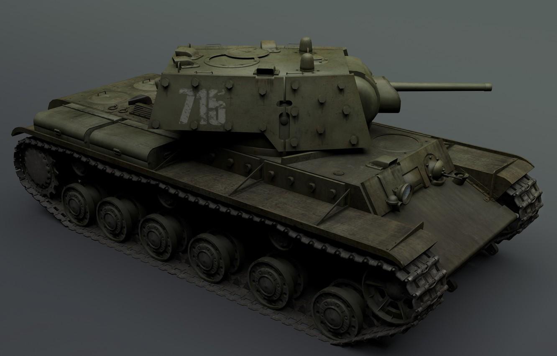 Photo wallpaper caterpillar, background, tower, the barrel, tank, KV-1E