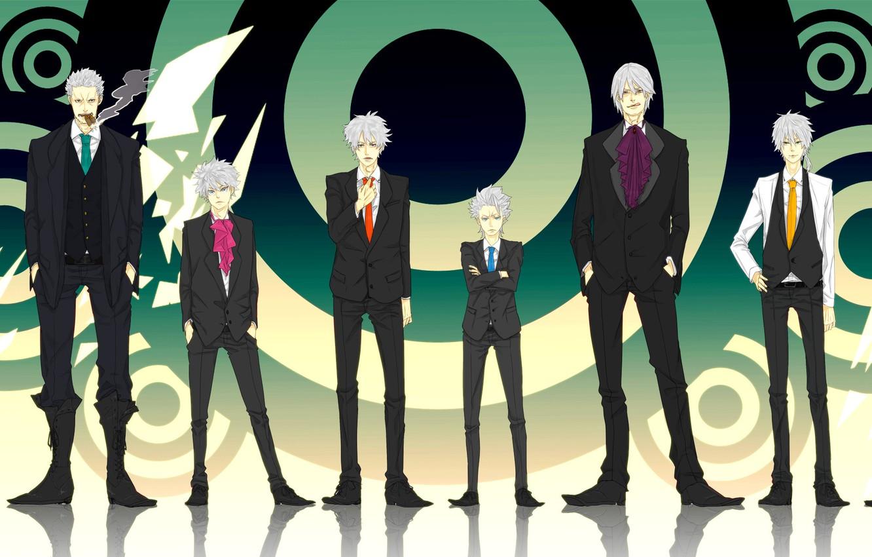 Photo wallpaper naruto, bleach, one piece, devil may cry, dante, gintama, hatake kakashi, sakata gintoki, smoker, seta …