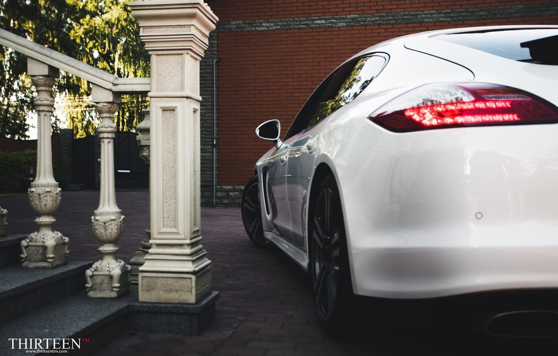 Photo wallpaper machine, auto, Porsche, Porsche, Panamera, lantern, auto, Panamera