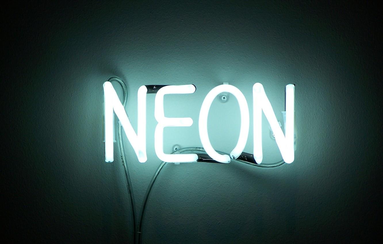 Photo wallpaper neon, sign