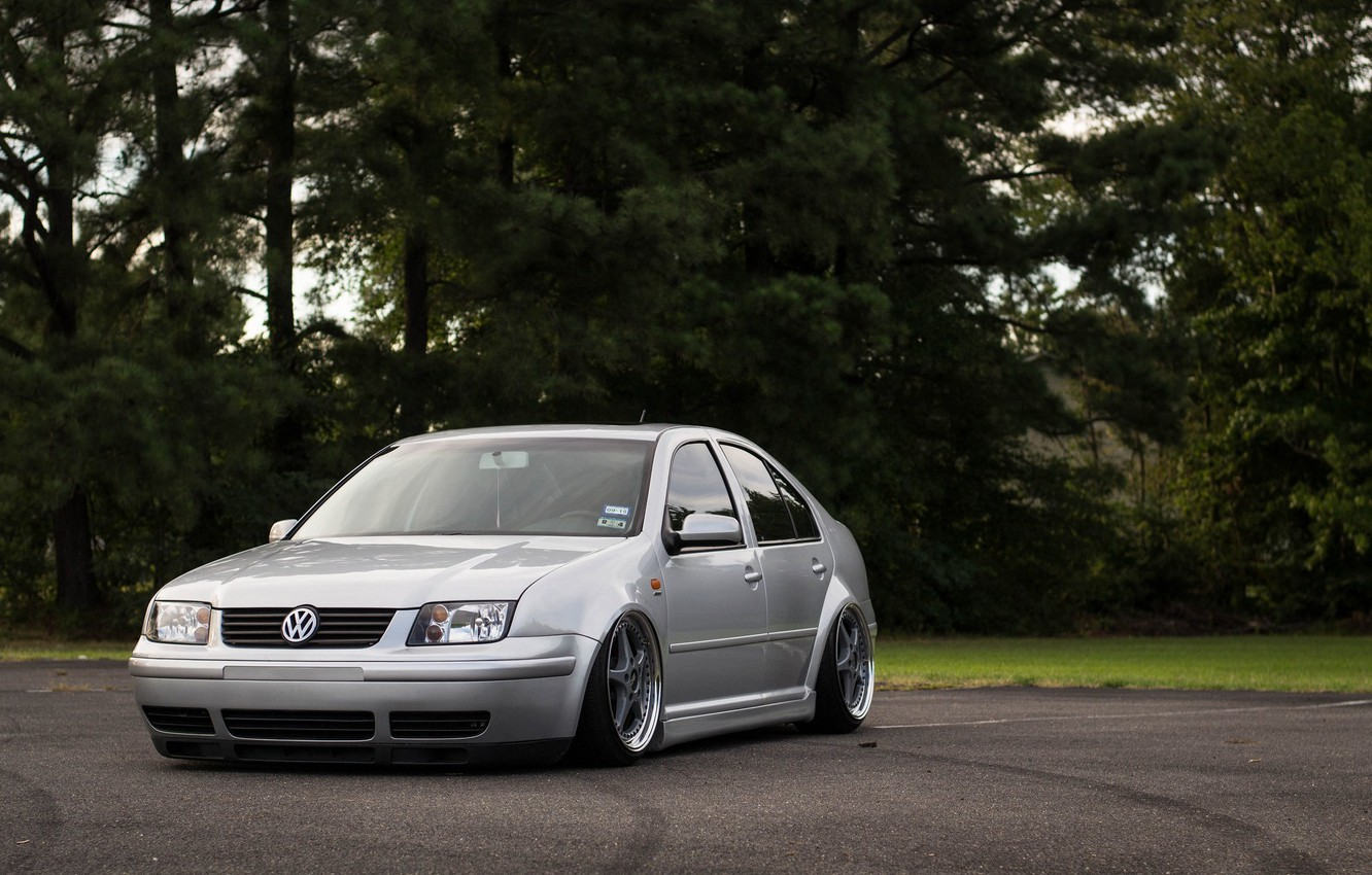 Photo wallpaper volkswagen, wheels, tuning, front, gti, face, germany, low, r32, stance, jetta, bora, vr6