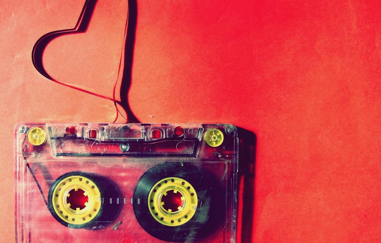 Photo wallpaper red, heart, magazine