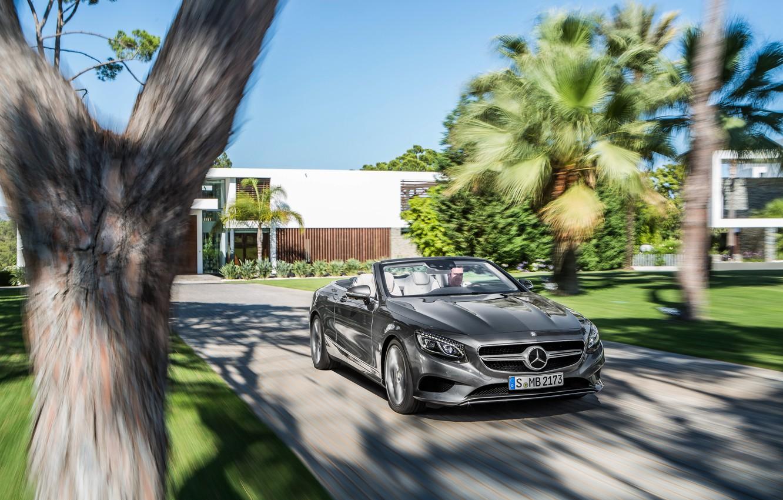 Photo wallpaper Mercedes-Benz, speed, convertible, Mercedes, S-Class, 2015, S 500, A217