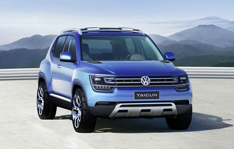 Photo wallpaper Concept, Blue, 4x4, Volkswagen Taigun
