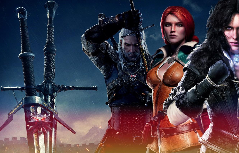 Wallpaper Triss Merigold The Witcher 3 Wild Hunt Geralt The