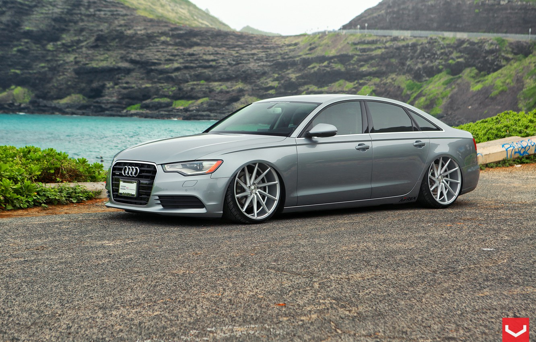 Photo wallpaper Audi, Audi, wheels, vossen