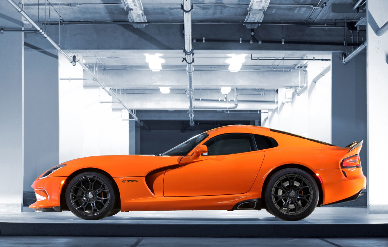Photo wallpaper Dodge, Viper, side view, Dodge, Viper, SRT, SRT