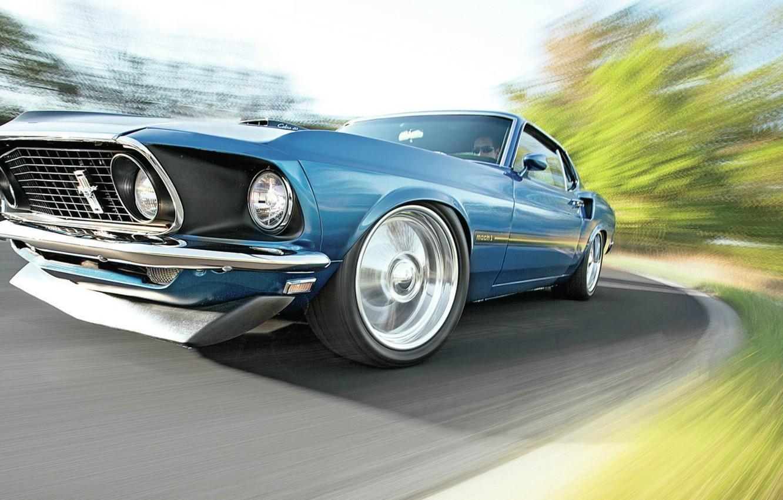 Photo wallpaper Mustang, Ford, Cobra Jet, Mach1