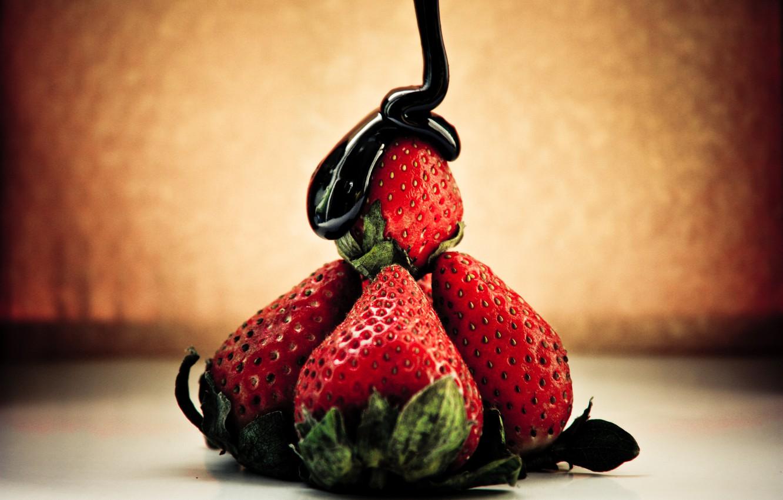 Photo wallpaper chocolate, strawberry, Strawberry, chic