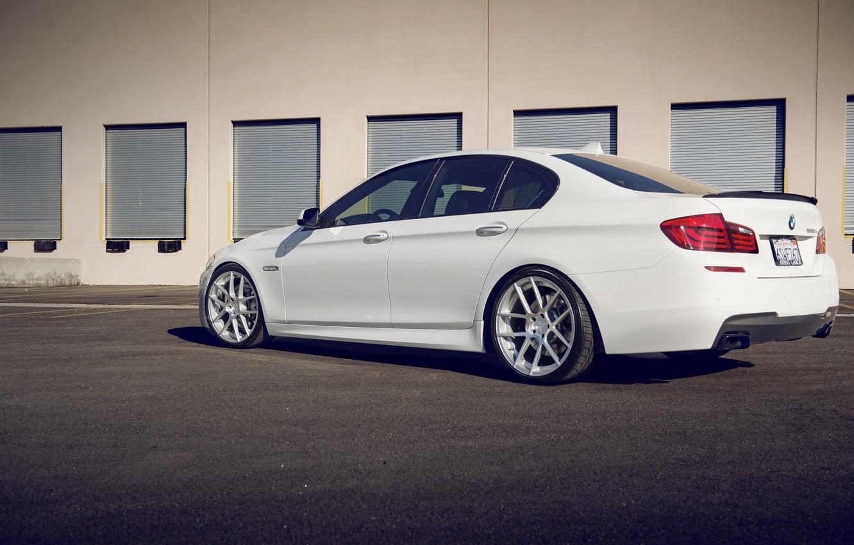 Photo wallpaper BMW, white, F10, 550i