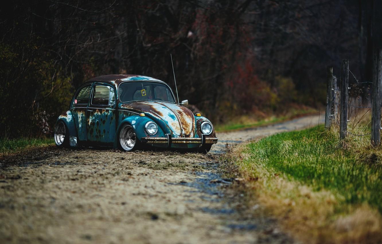 Photo wallpaper car, rat rod, volkswagen beetle