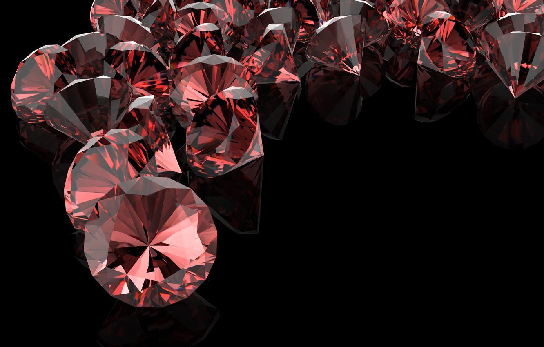 Wallpaper Diamonds The Dark Background Red Diamonds Images For Desktop Section Abstrakcii Download