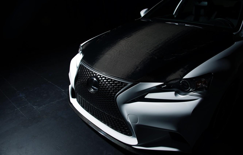 Photo wallpaper Lexus, Tuning, IS 350, black & white, Seibon, Sema
