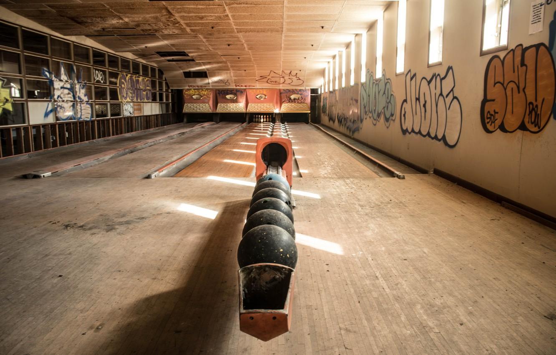 Photo wallpaper sport, hall, bowling