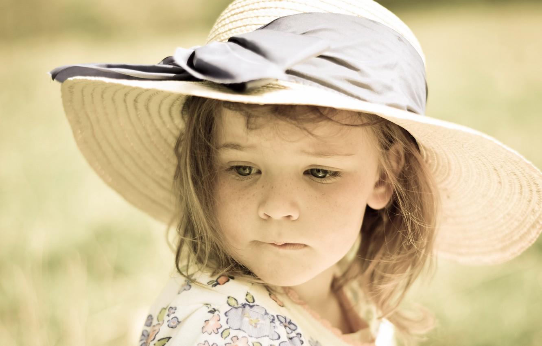 Photo wallpaper portrait, girl, hat