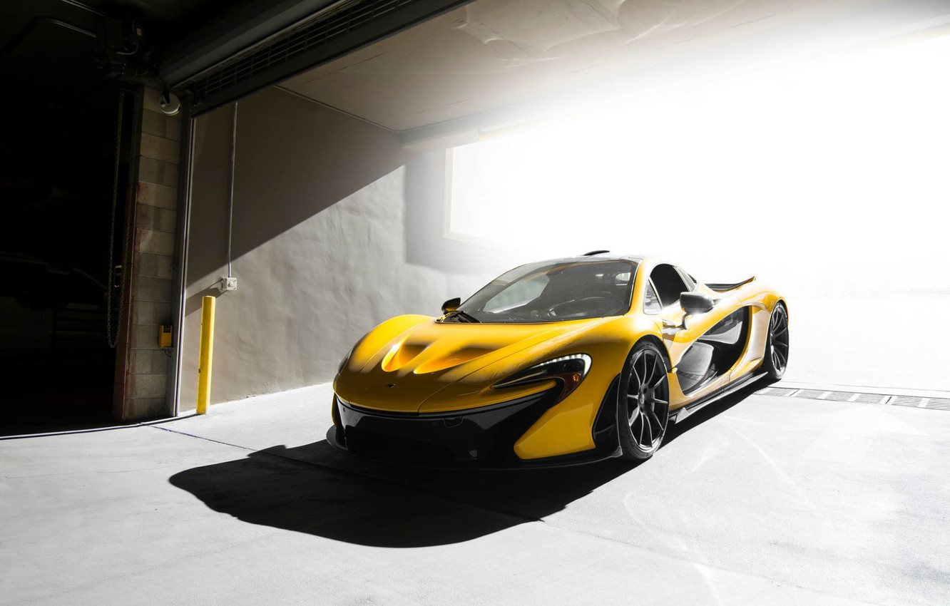 Photo wallpaper McLaren, Front, Yellow, Supercar, Ligth, Figth