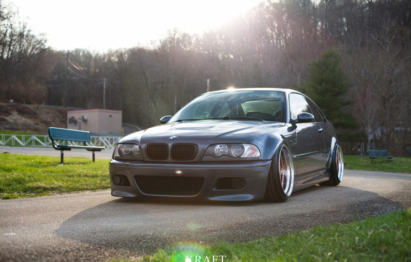 Photo wallpaper tuning, bmw, BMW, tuning, power, germany, low, stance, e46