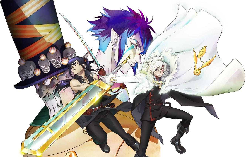 Photo wallpaper demon, sake, sword, game, hat, anime, cross, katana, man, ken, tatoo, vampire, death, samurai, weapons, …