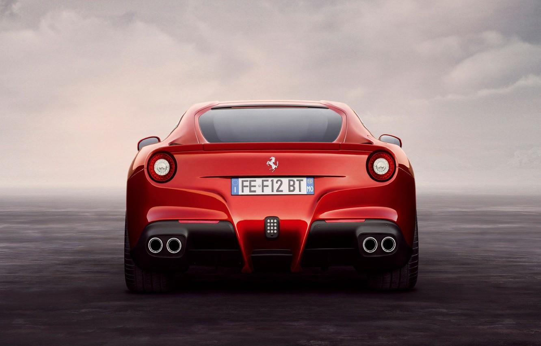 Photo wallpaper red, red, ferrari, Ferrari, F12