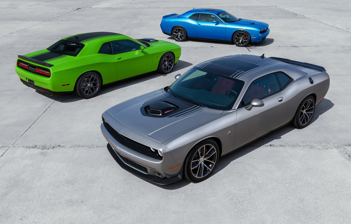Photo wallpaper Dodge, Challenger, auto, wallpapers, new, R/T, 2015