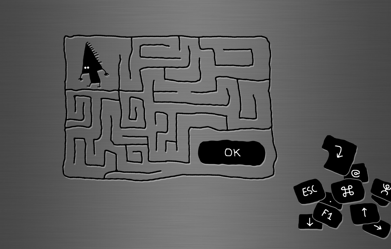 Photo wallpaper Maze, the cursor, button
