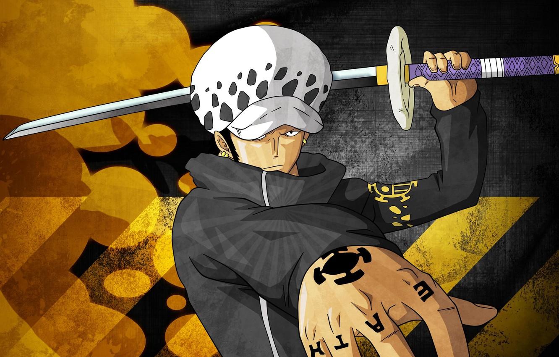 Photo wallpaper sword, game, One Piece, pirate, anime, katana, tatoo, captain, asian, manga, doctor, japanese, Room, oriental, …