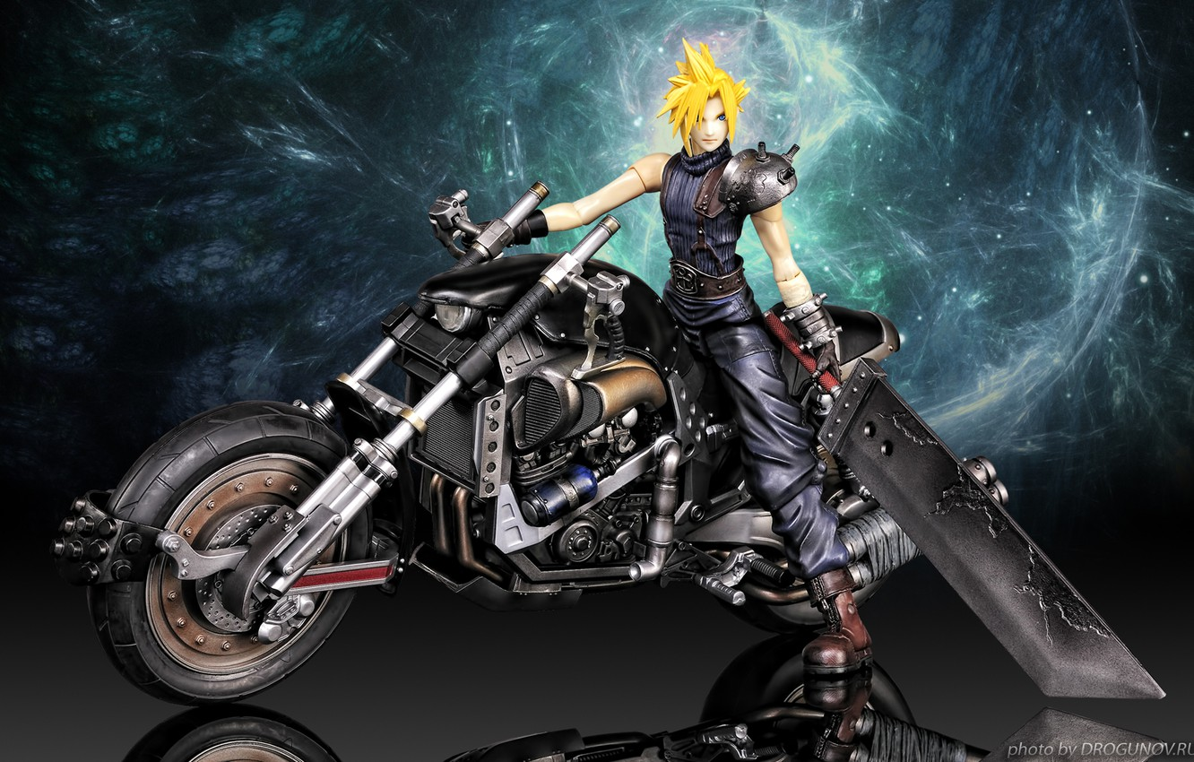 Wallpaper Motorcycles Cloud Strife Final Fantasy Final Fantasy