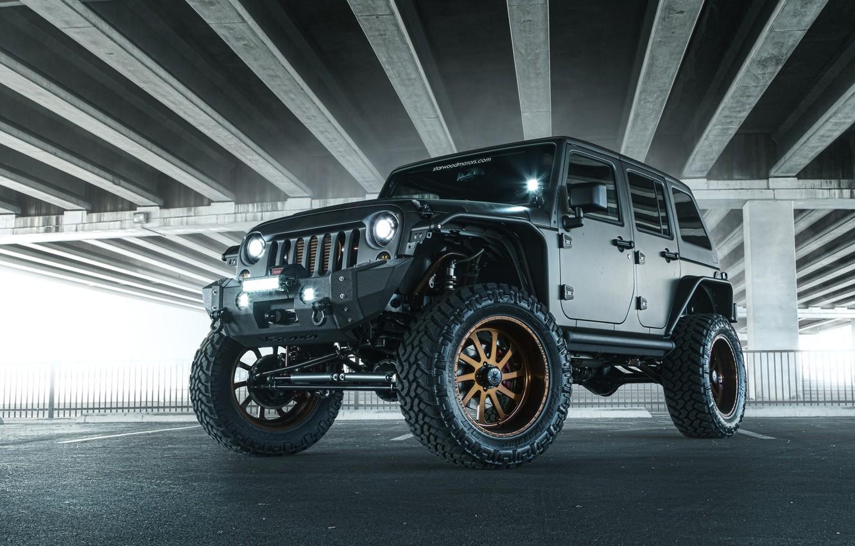 Photo wallpaper Jeep, SUV, Nighthawk, Wrangler, Jeep, 2014
