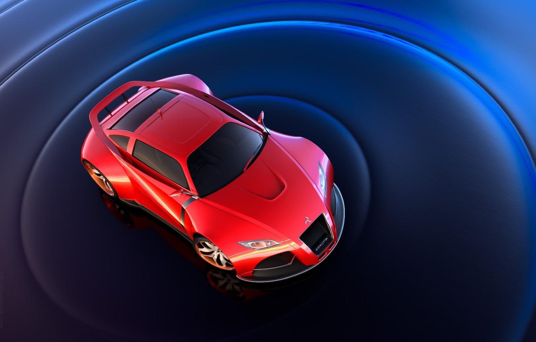 Photo wallpaper red, spoiler, sports car