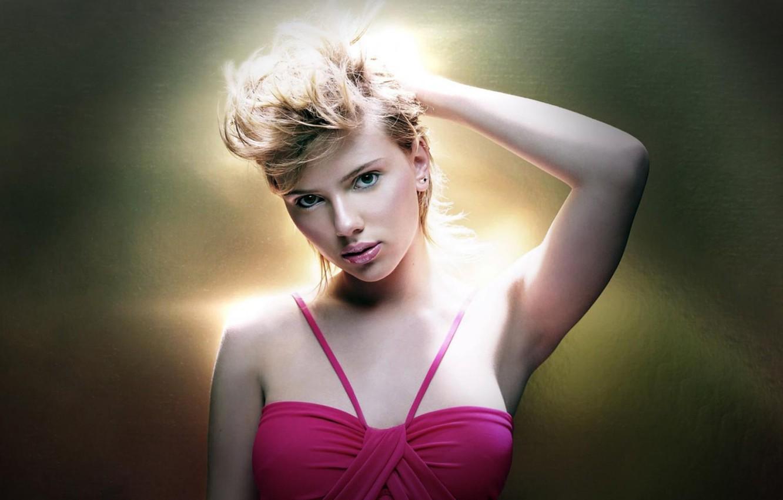 Photo wallpaper girl, actress, blonde, Scarlett Johansson, Scarlett johansson