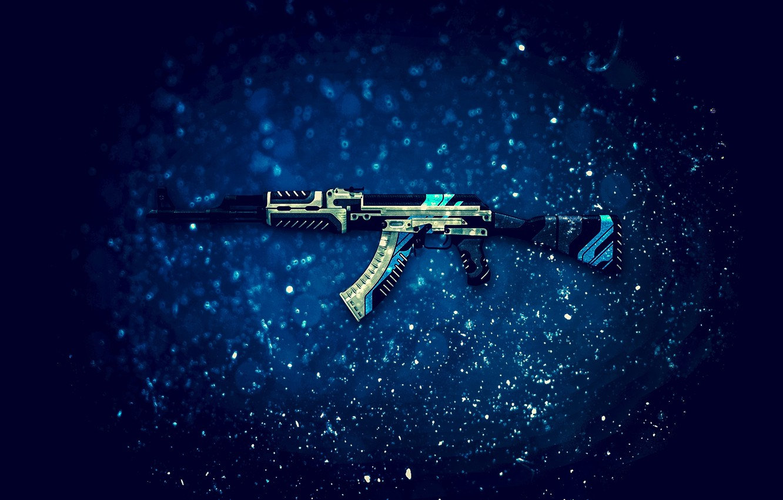 Photo wallpaper the volcano, AK-47, Counter-Strike: Global Offensive, CS:GO, Vulcan