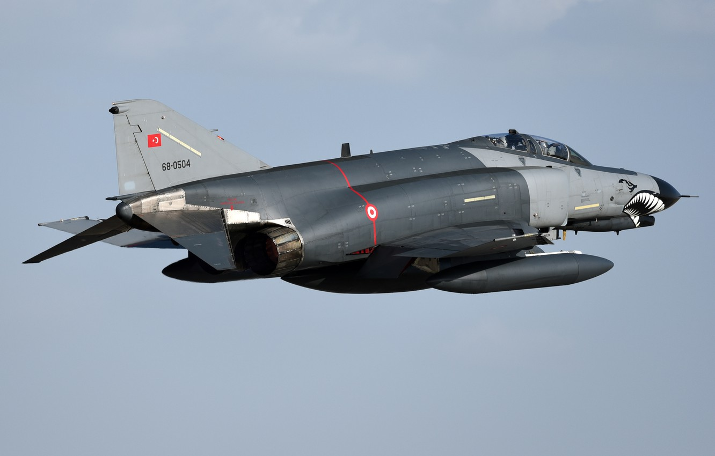 Photo wallpaper fighter, multipurpose, Phantom II, F-4E, Phantom II