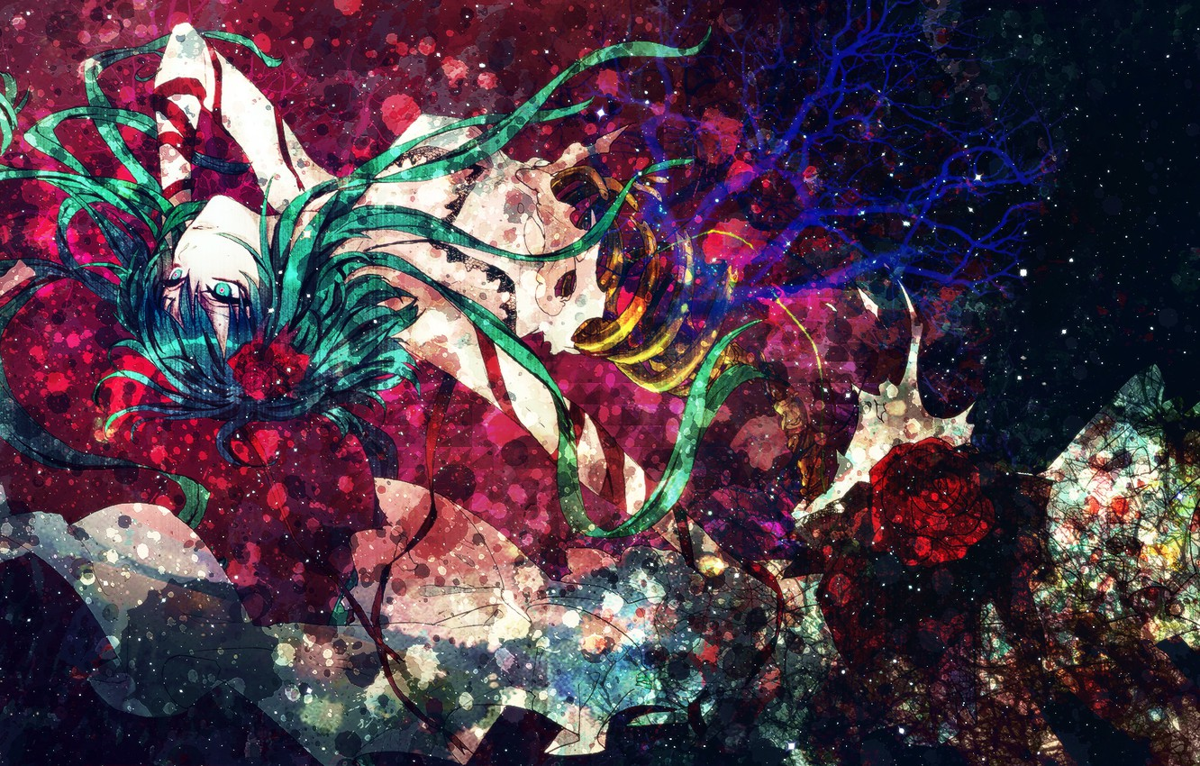 Photo wallpaper girl, abstraction, style, anime, art, cyborg, vocaloid, gumi, decoration, czc