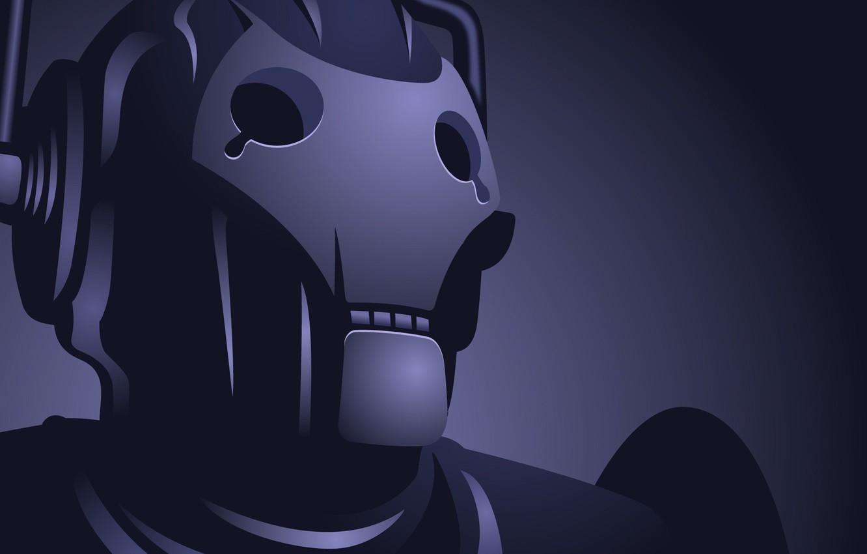 Photo wallpaper blue, robot, cyborg