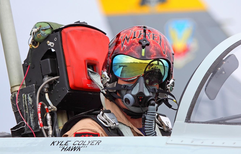 Photo wallpaper male, pilot, the plane